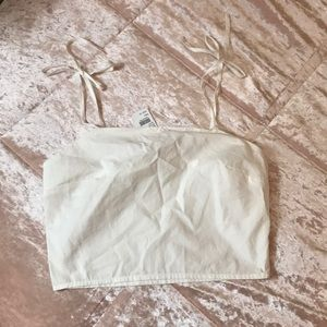 🌻4 for $20 NWT white linen crop top